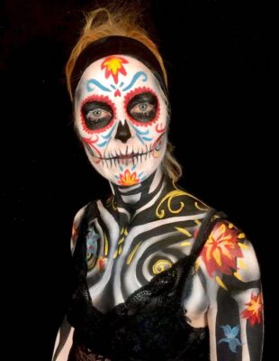 Sugar skull fra Day of the Dead - fastelavn